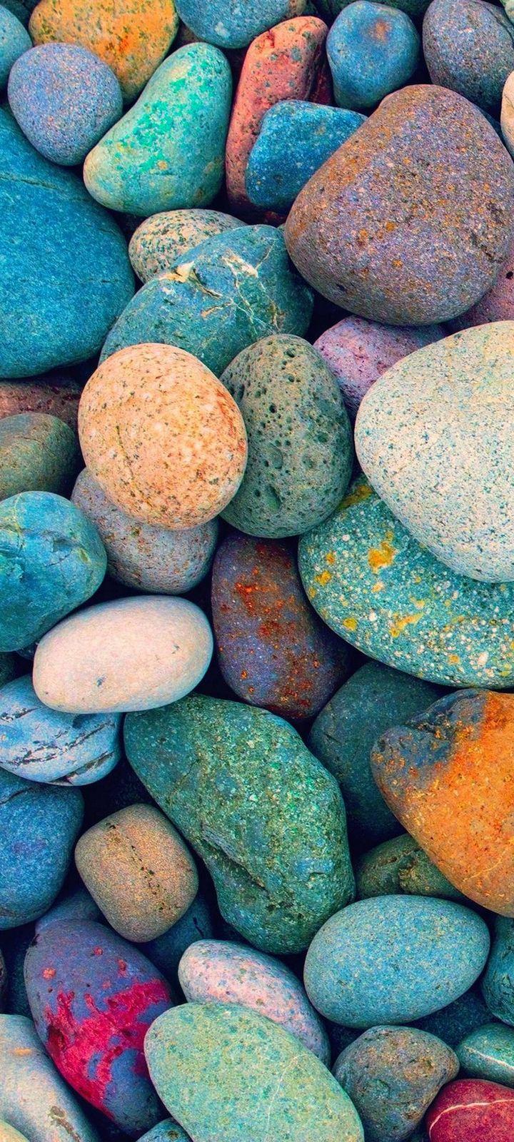 Multicolored Stones Wallpaper 720x1600
