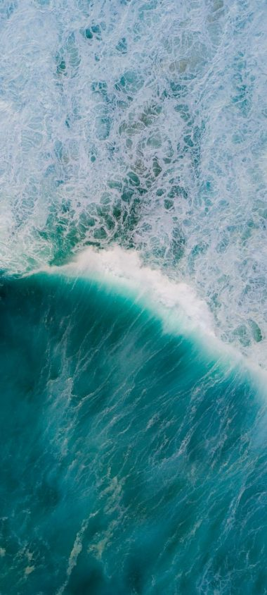 Ocean Waves Aerial View Wallpaper 720x1600 380x844