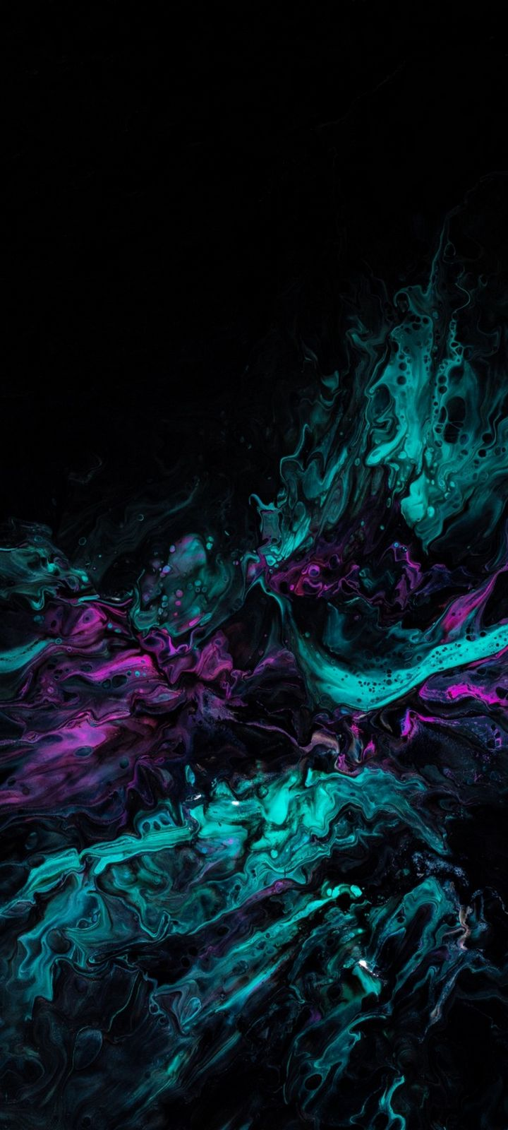Paint Stains Mixing Wallpaper 720x1600