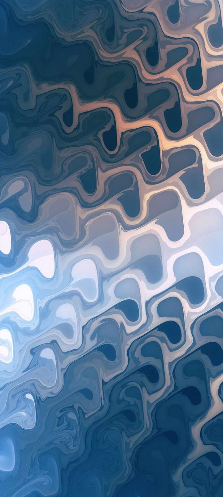 Painted Blue 3D Abstract Wallpaper 720x1600