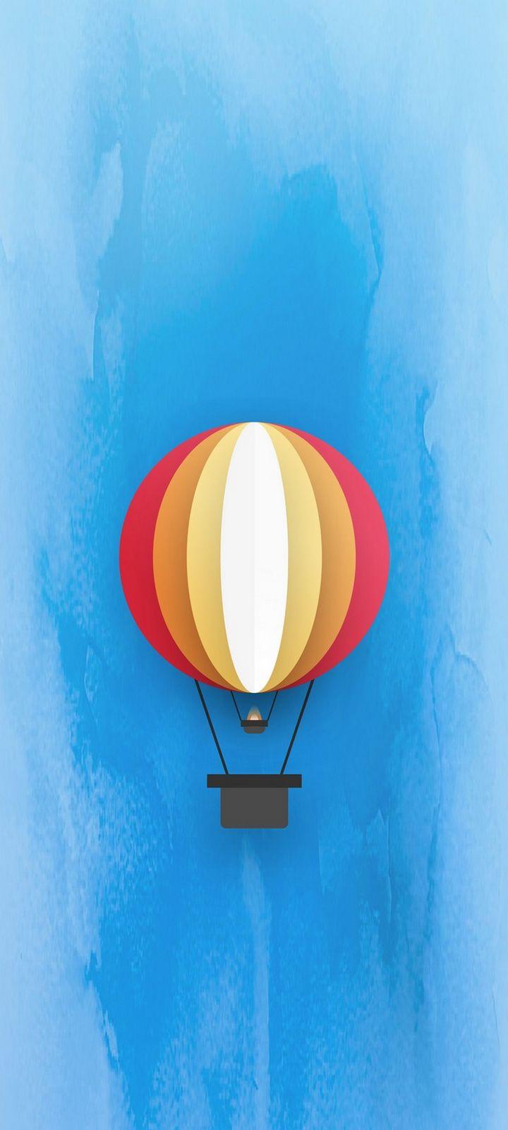 Parachute Minimal Wallpaper 720x1600