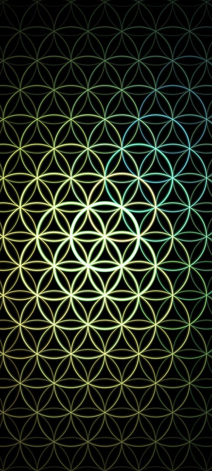 Pattern Circles Mesh Wallpaper 720x1600