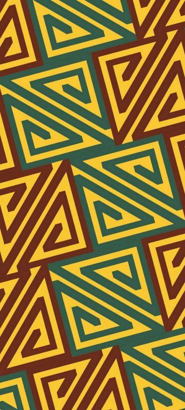 Patterns Shape Yellow Wallpaper 720x1600 380x844