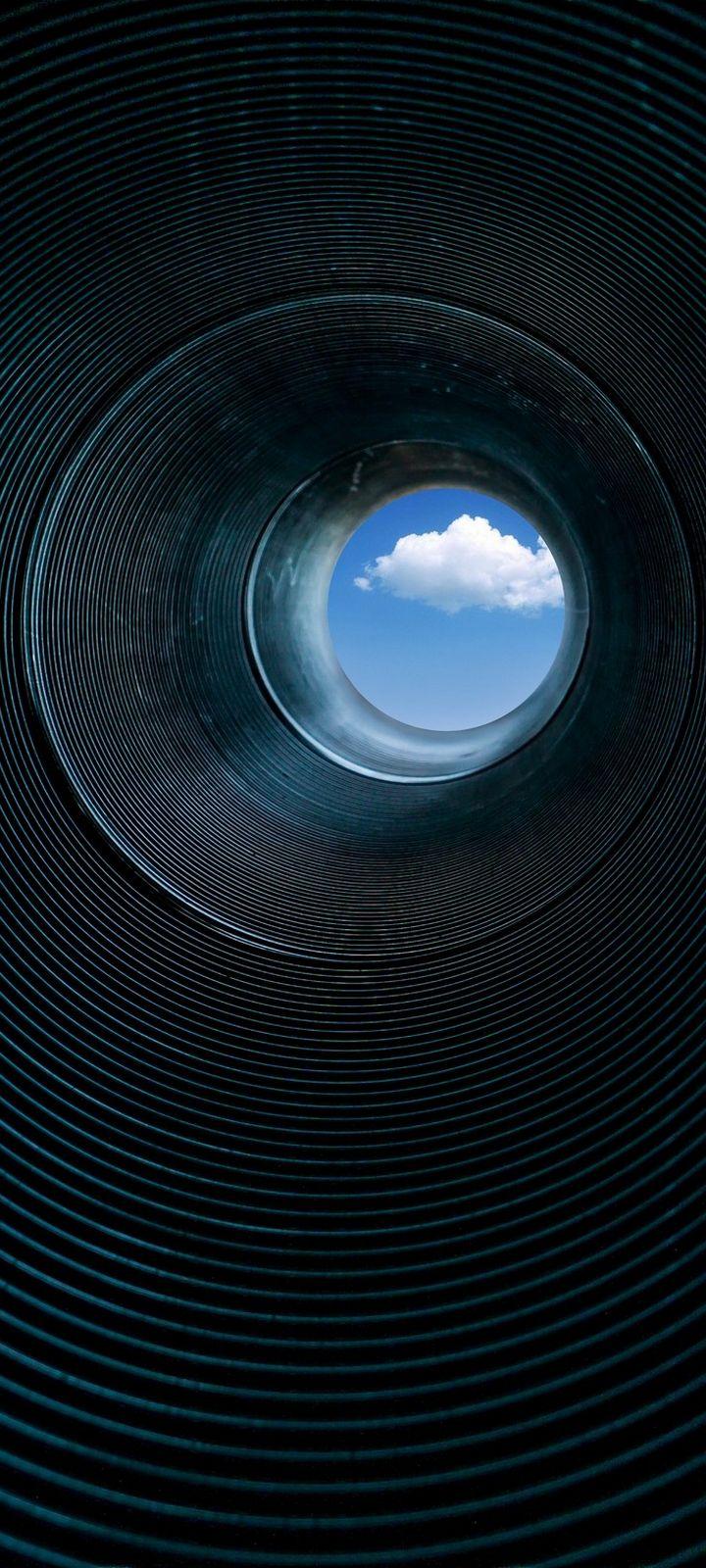 Pipe Rings Cloud Wallpaper 720x1600