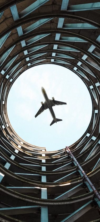 Plane Bottom View Flight Wallpaper 720x1600 380x844