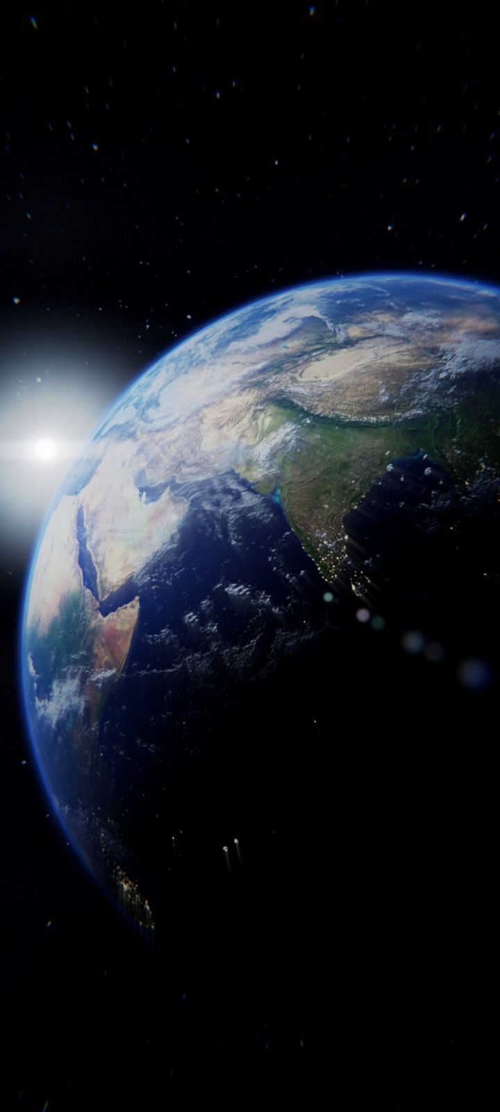Planet Flash Bright Wallpaper 720x1600