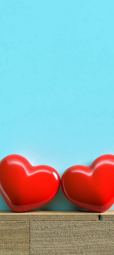 Red Hearts Love Wallpaper 720x1600 380x844