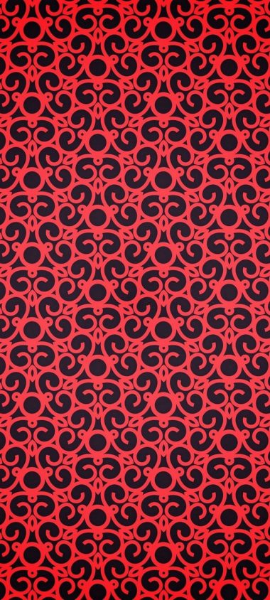 Red Pattern Texture Wallpaper 720x1600 380x844