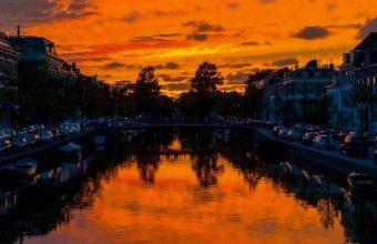 River Sunset Canal Wallpaper 720x1600 340x220