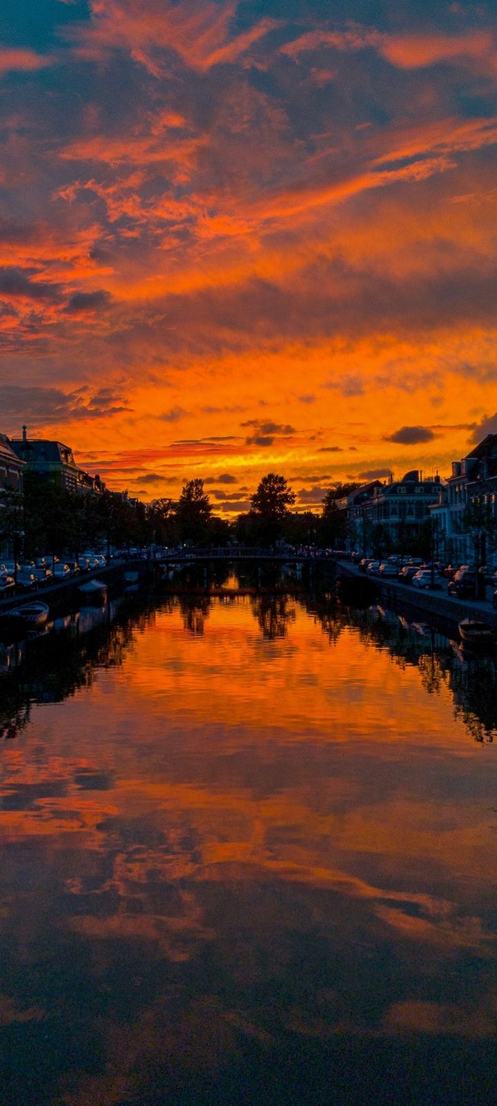 River Sunset Canal Wallpaper 720x1600