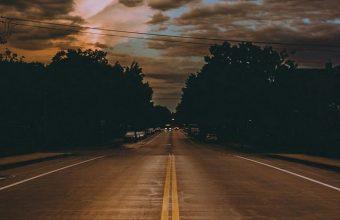 Road Marking Cloudy Wallpaper 720x1600 340x220