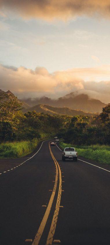 Road Mountains Landscape Wallpaper 720x1600 380x844