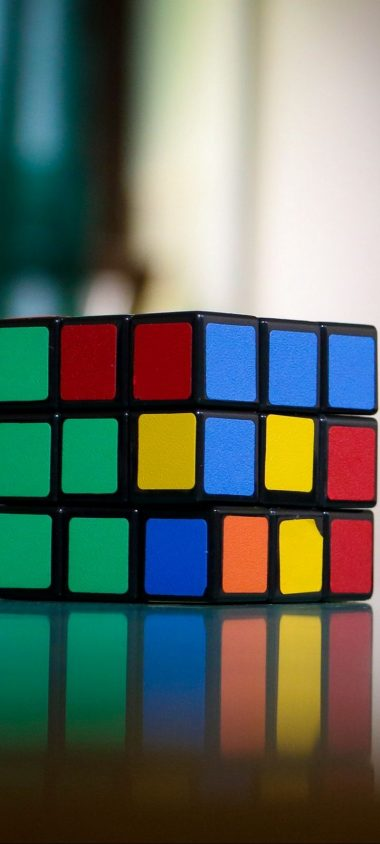 Rubiks Cube Puzzle Multi Colored Wallpaper 720x1600 380x844