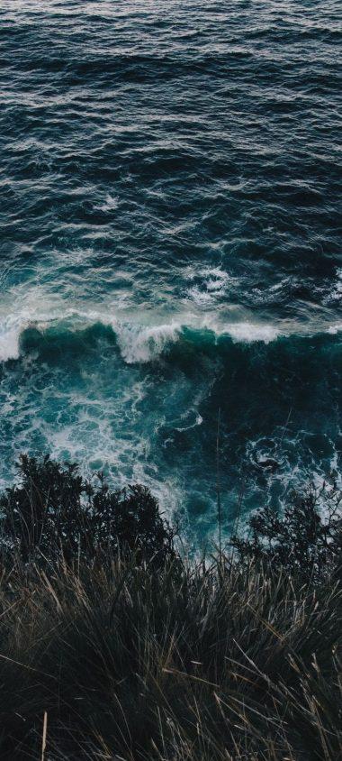 Sea Surf Foam Shore Wallpaper 720x1600 380x844