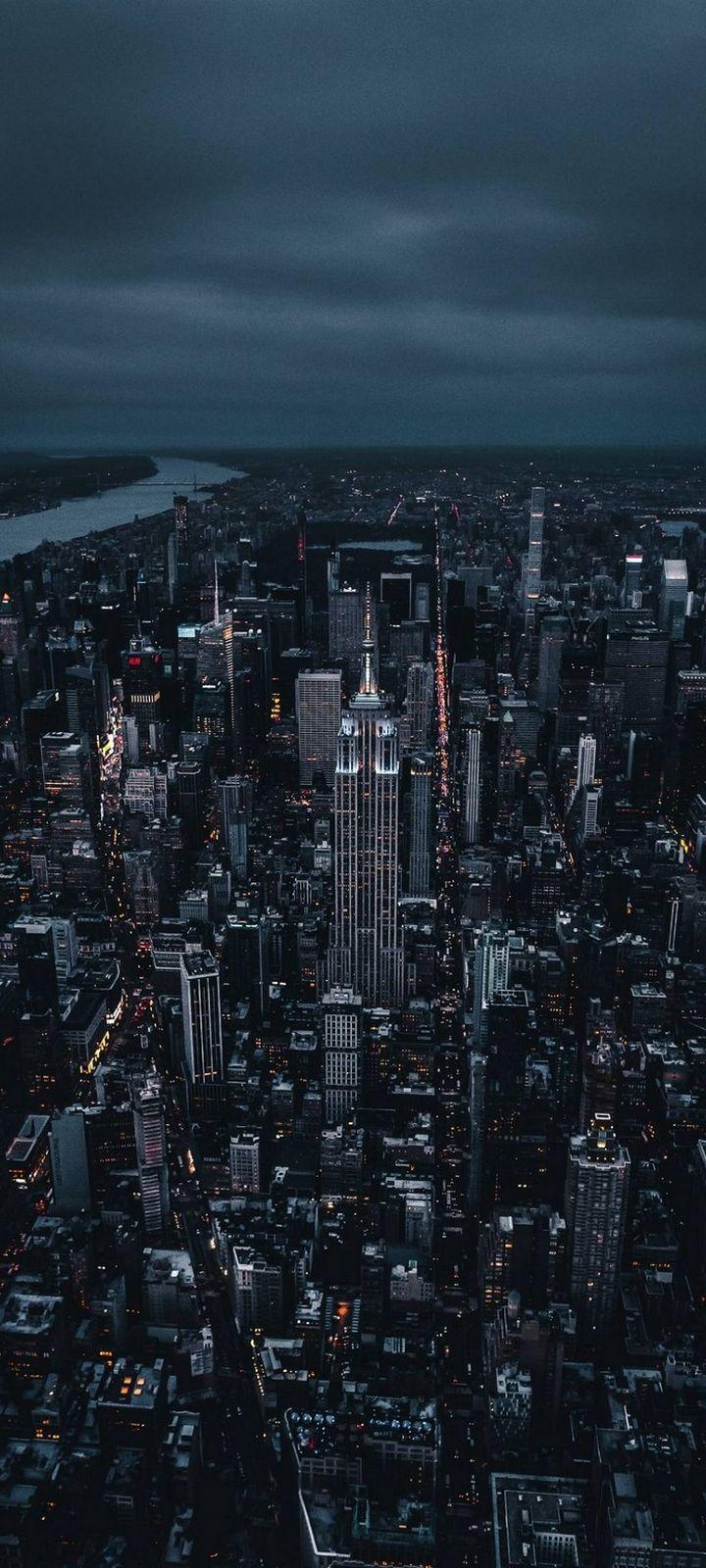 Skyline New York City Wallpaper 720x1600