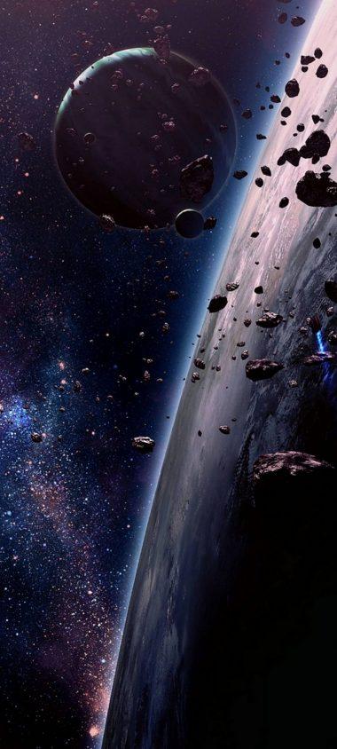 Space Fragments Universe Wallpaper 720x1600 380x844