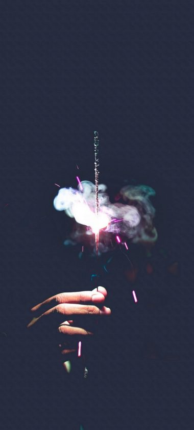 Sparkler Spark Smoke Wallpaper 720x1600 380x844