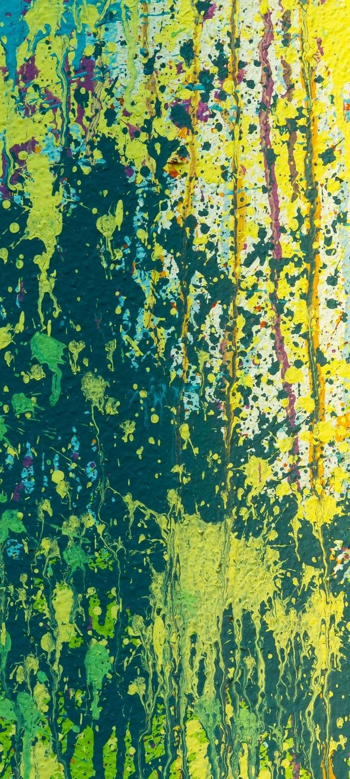 Splashes Multicolored Abstract Wallpaper 720x1600