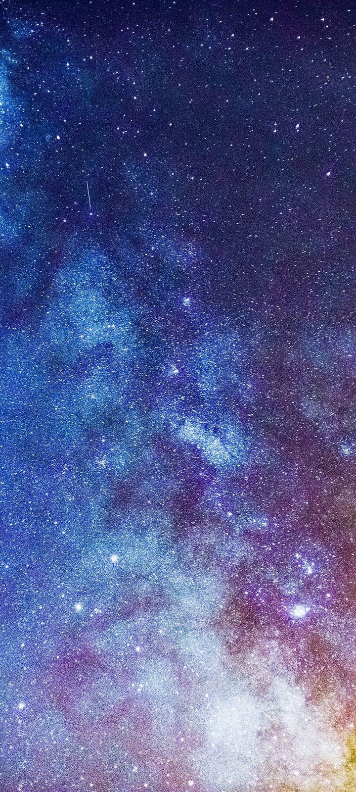 Starry Sky Milky Way Glitter Wallpaper 720x1600