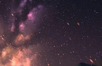 Starry Sky Stargazing Art Wallpaper 720x1600 340x220