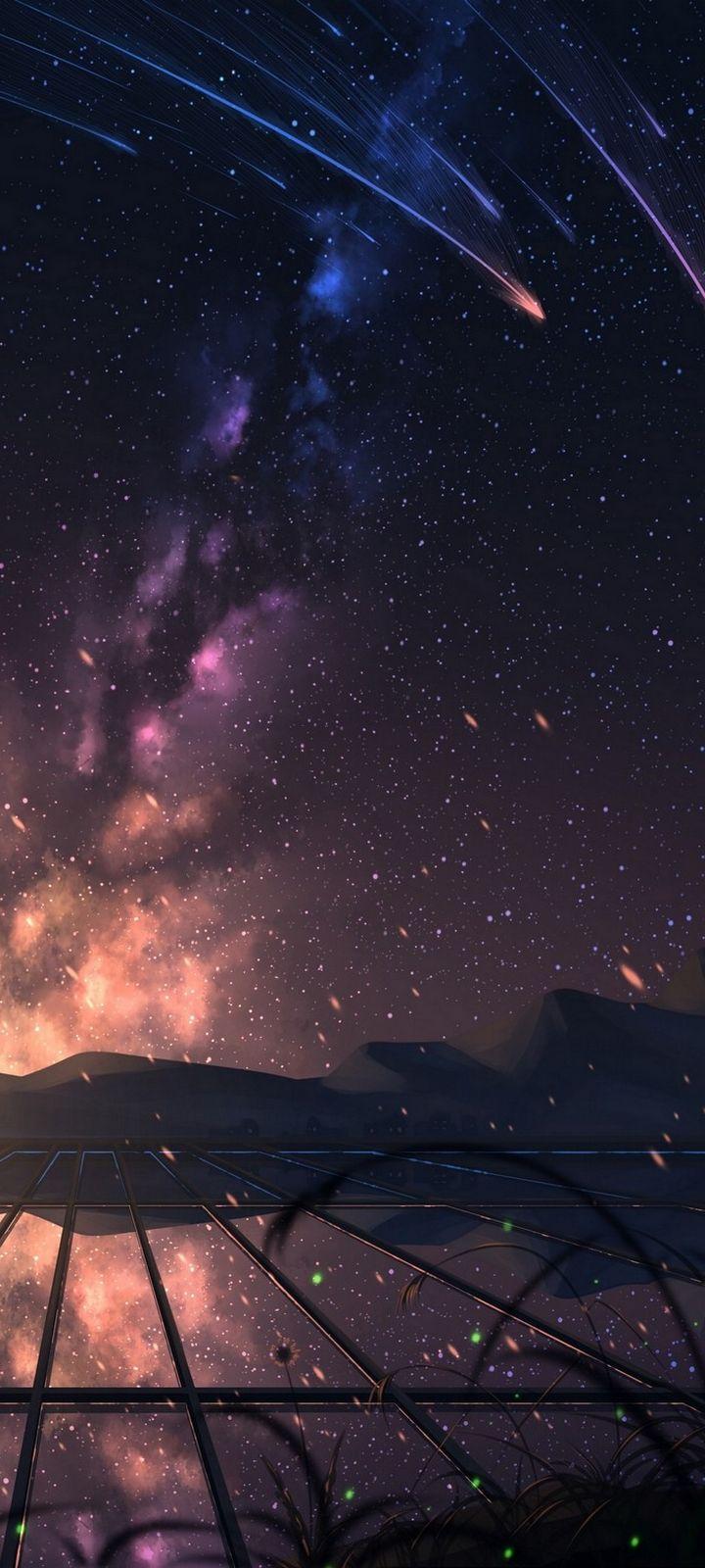 Starry Sky Stargazing Art Wallpaper 720x1600