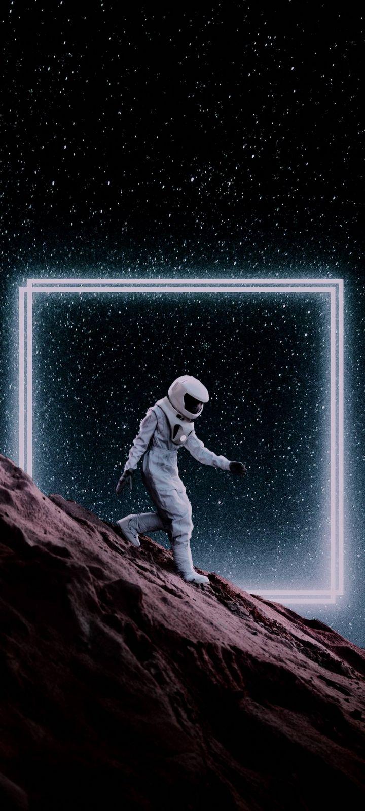 Step Down Space Wallpaper 720x1600