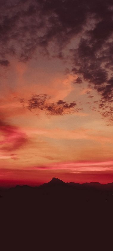 Sunset Mountains Clouds Sky Wallpaper 720x1600 380x844