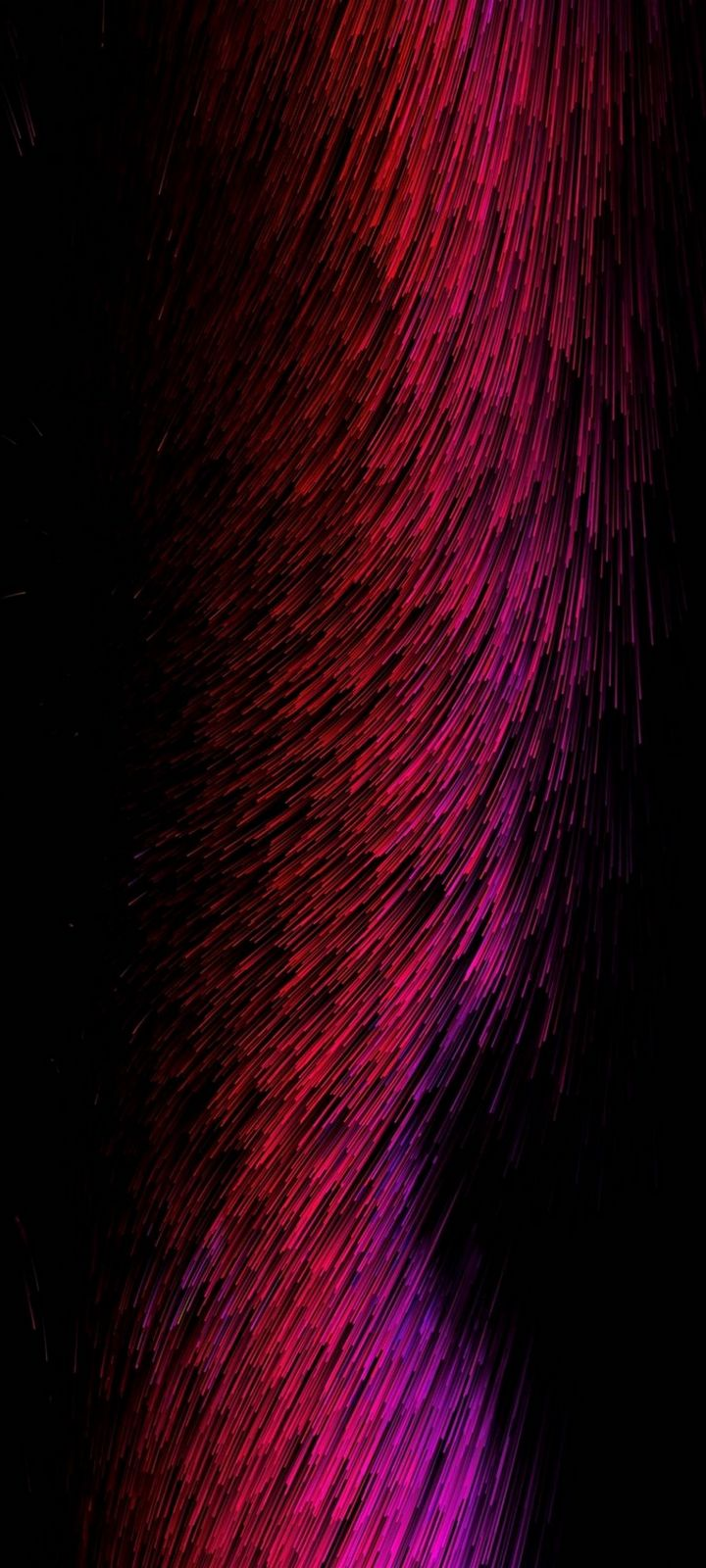 Threads Glow Red Pink Abstract Wallpaper 720x1600