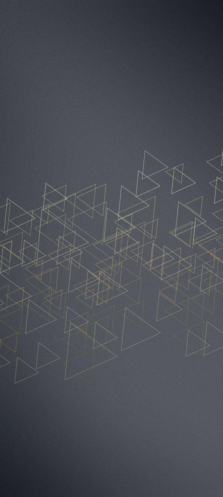 Triangles Icon Texture Wallpaper 720x1600