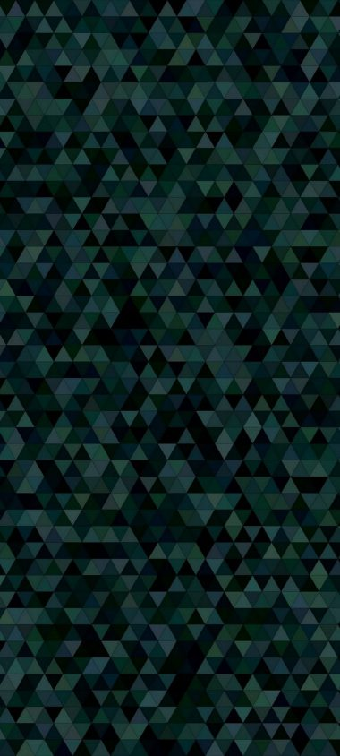 Triangles Mosaic Dark Texture Wallpaper 720x1600 380x844