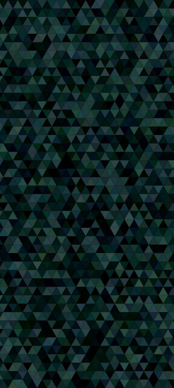 Triangles Mosaic Dark Texture Wallpaper 720x1600