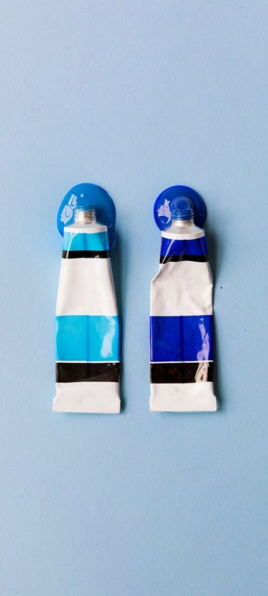 Tubes Paint Blue Wallpaper 720x1600 380x844