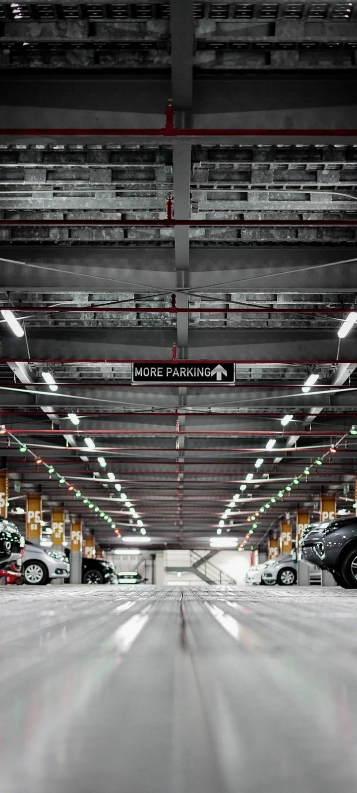Vehicles Car Parking Wallpaper 720x1600