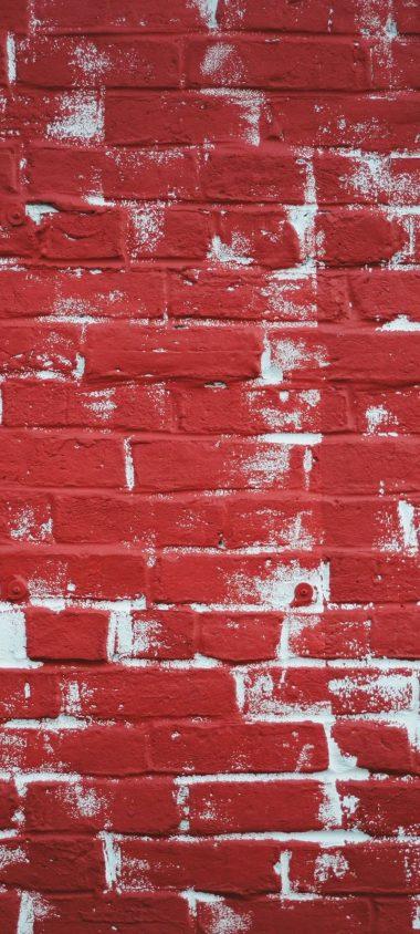 Wall Brick Paint Texture Wallpaper 720x1600 380x844