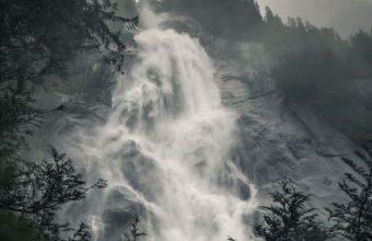 Waterfall Fog Rock Wallpaper 720x1600 340x220