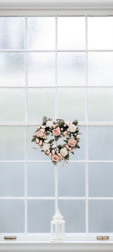 Window Love Hearts Wallpaper 720x1600 380x844