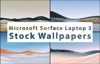 Microsoft Surface Laptop 3 Stock Wallpapers