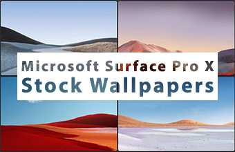 Microsoft Surface Pro X Stock Wallpapers