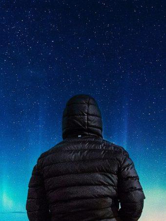 Alone Boy In Hoodie Looking Towards Colorful Sky G0 Wallpaper 1620x2160 1 340x453
