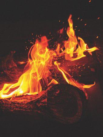 Bonfire Fire Flames Sparks Wallpaper 1620x2160 1 340x453