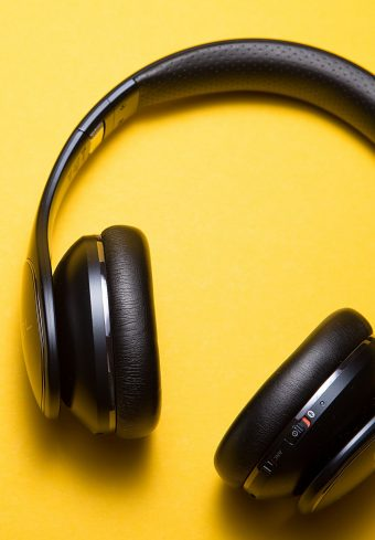 Headphones Yellow Background Music Wallpaper 1640x2360 1 340x489