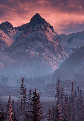 Horizon Zero Dawn Nature Mountains Trees Sky Yj Wallpaper 1640x2360 1 340x489