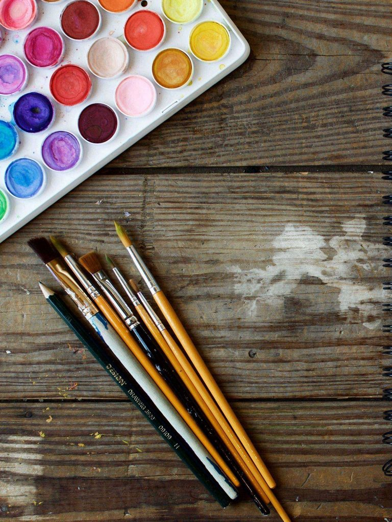 Paints Brushes Art Drawing 1620x2160 1 768x1024