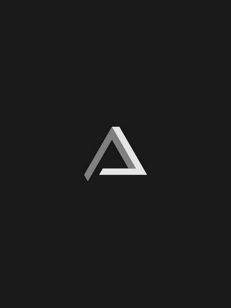 Penrose Triangle Minimalism Gt Wallpaper 1620x2160 1 768x1024