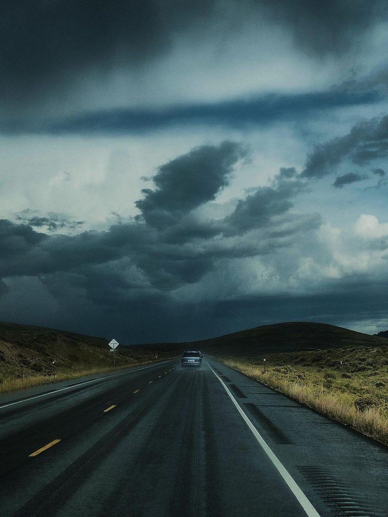 Road Clouds Auto Traffic Wallpaper 1620x2160 1 768x1024