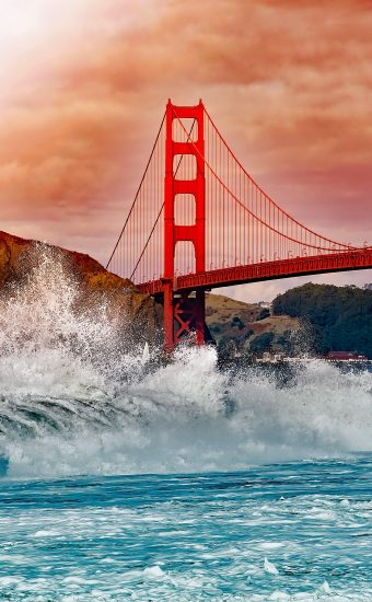 Golden Gate Bridge Wallpaper 1760x2200 07 340x550